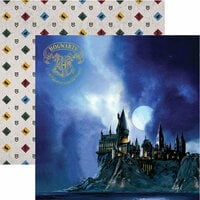 Paper House Productions - Harry Potter Collection - 12 x 12 Double Sided Paper with Foil Accents - Harry Potter - Hogwarts at Night