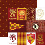 Paper House Productions - Harry Potter Collection - 12 x 12 Double Sided Paper with Foil Accents - Harry Potter Gryffindor - Tags