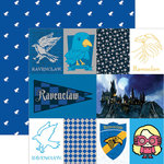 Paper House Productions - Harry Potter Collection - 12 x 12 Double Sided Paper with Foil Accents - Harry Potter Ravenclaw - Tags