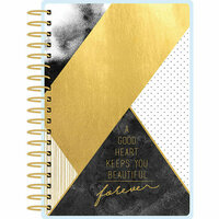 Paper House Productions - Planner - Mini - Black and Gold Geometric - 12 Month - Undated