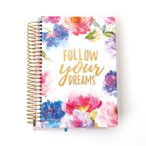 Paper House Productions - Planner - Mini - 12 Month - Undated - Cool Floral Dreams with Foil Accents
