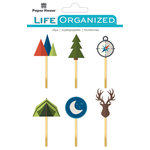 Paper House Productions - Life Organized Collection - Epoxy Clips - Outdoors