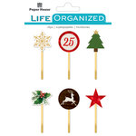 Paper House Productions - Life Organized Collection - Epoxy Clips - Christmas