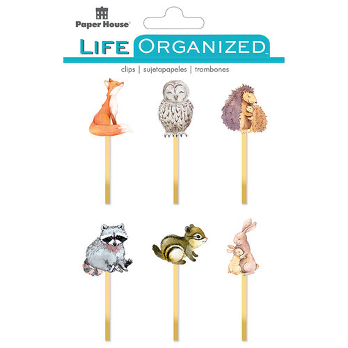 Paper House Productions - Life Organized Collection - Epoxy Clips - Autumn Woods