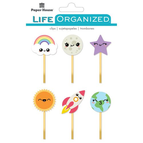 Paper House Productions - Life Organized Collection - Epoxy Clips - Kawaii