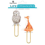 Paper House Productions - Life Organized Collection - Puffy Clips - Autumn Woods