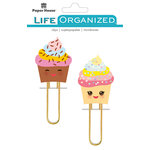 Paper House Productions - Life Organized Collection - Puffy Clips - Kawaii Cupcakes