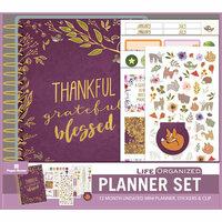 Paper House Productions - Life Organized Collection - Planner Set - Mini - Thankful Grateful Blessed - 12 Month - Undated