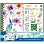 Paper House Productions - Life Organized Collection - Planner Set - Mini - Peacock - 12 Month - Undated