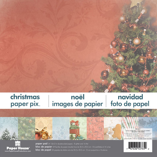 Paper House Productions - 12 x 12 Paper Pad - Christmas