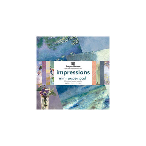 Paper House Productions - 6 x 6 Paper Pad - Impressions