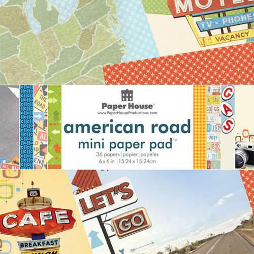 Paper House Productions - 6 x 6 Paper Pad - American Road