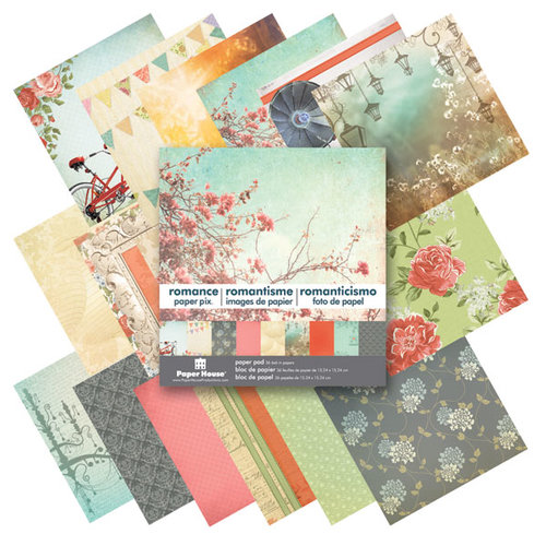 Paper House Productions - 6 x 6 Paper Pad - Romance