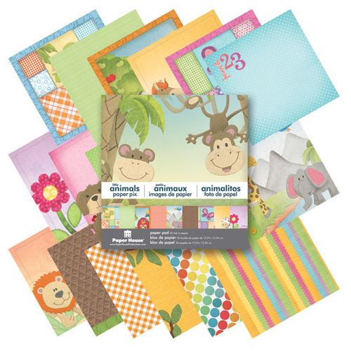 Paper House Productions - 6 x 6 Paper Pad - Little Animals