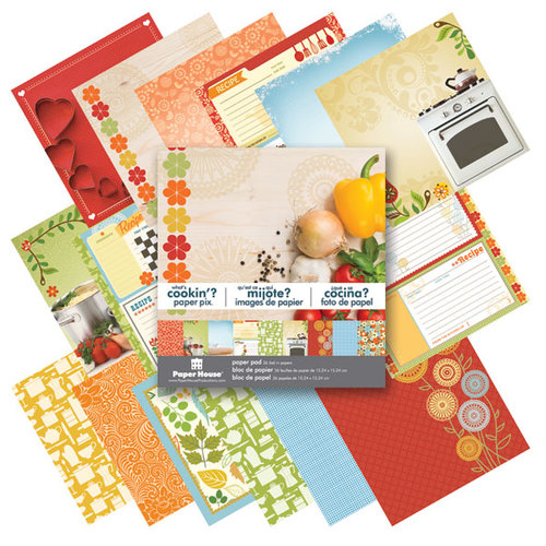 Paper House Productions - 6 x 6 Paper Pad - What's Cookin'