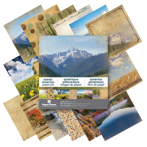 Paper House Productions - 8 x 8 Paper Pad - Scenic America