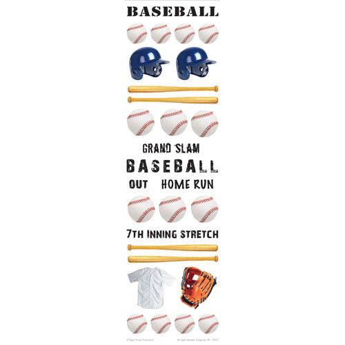Paper House Productions - Baseball Collection - Rub Ons - Baseball