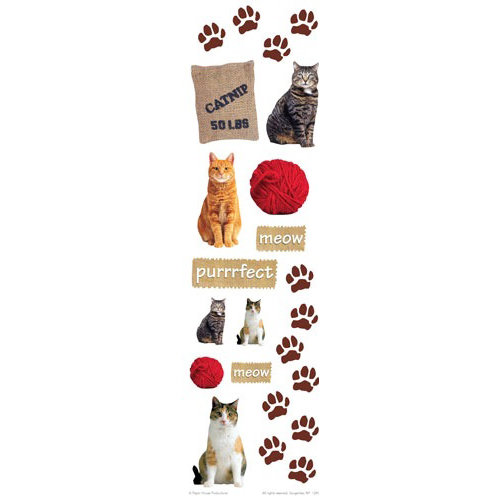 Paper House Productions - Cat Collection - Rub Ons - Meow