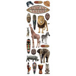 Paper House Productions - Africa Collection - Glitter Rub Ons - African Safari