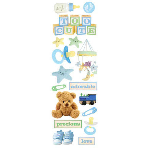 Paper House Productions - Baby Boy Collection - Glitter Rub Ons - Baby Boy