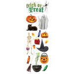 Paper House Productions - Halloween Collection - Glitter Rub Ons - Trick or Treat