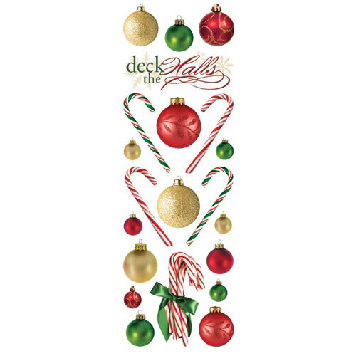 Paper House Productions - Christmas Collection - Glitter Rub Ons - Deck the Halls