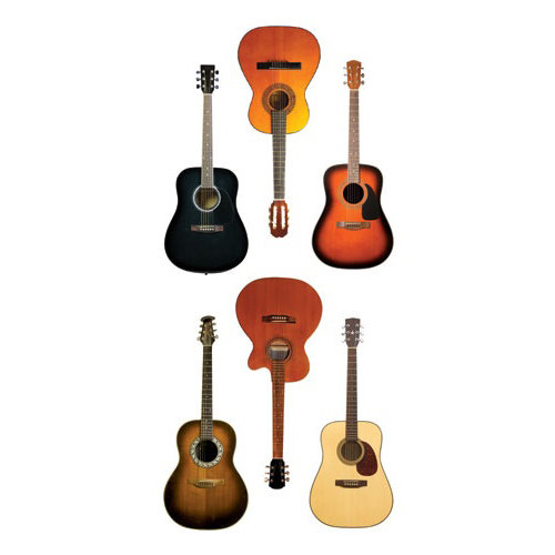Paper House Productions - StickyPix Stickers - Acoustic Guitars
