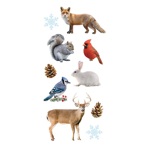 Paper House Productions - Cardstock Stickers - Winter Animals