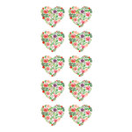 Paper House Productions - Cardstock Stickers - Floral Hearts