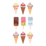 Paper House Productions - Cardstock Stickers - Ice Cream
