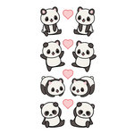 Paper House Productions - Cardstock Stickers - Pandas