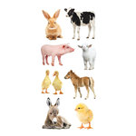 Paper House Productions - Clear Stickers - Baby Barnyard Animals