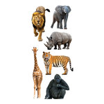 Paper House Productions - Clear Stickers - Zoo Animals