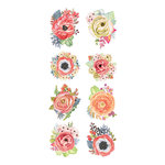 Paper House Productions - Clear Stickers - Peach Poppies