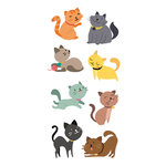 Paper House Productions - Clear Stickers - Cats Illustrated