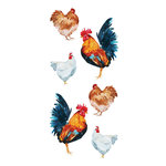 Paper House Productions - Clear Stickers - Chickens - Watercolor