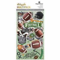 Paper House Productions - StickyPix - Multipack Stickers - Football with Foil Accents
