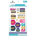Paper House Productions - Life Organized Collection - Sticker Book with Foil Accents - Fitness