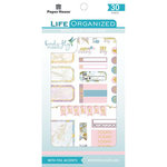 Paper House Productions - Life Organized Collection - Sticker Book with Foil Accents - Weekly Color