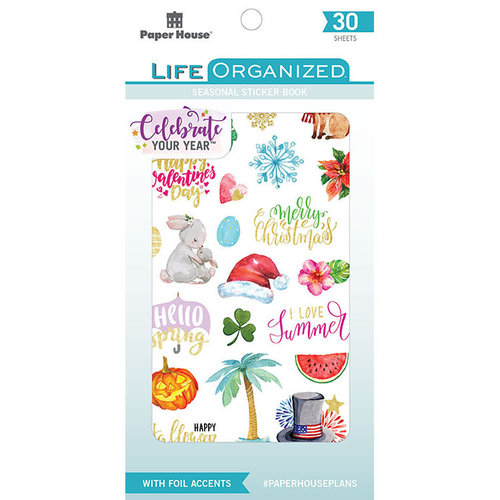 Paper House Productions - Life Organized Collection - Sticker Book with Foil Accents - Seasonal