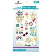 Paper House Productions - Sticker Book with Foil Accents - Inspirational