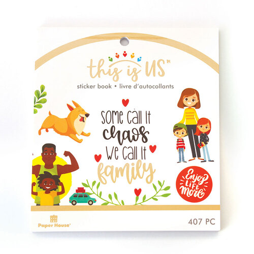 Paper House Productions - This Is Us Collection - Mini Sticker Book - Family Life
