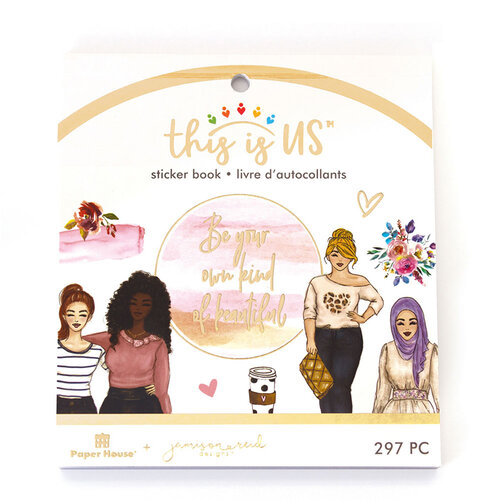 Paper House Productions - This Is Us Collection - Mini Sticker Book - Own Kind of Beautiful