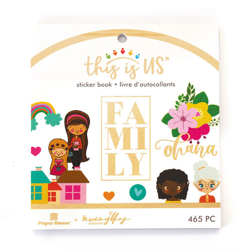 Paper House Productions - This Is Us Collection - Mini Sticker Book - Our Family