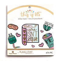Paper House Productions - This Is Us Collection - Mini Sticker Book - Self Care