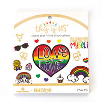 Paper House Productions - This Is Us Collection - Mini Sticker Book - Love Is Love