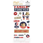 Paper House Productions - Home Front Girl Collection - Clear Stickers - Family