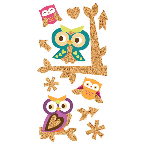 Paper House Productions - Cork'd - Cork Stickers - Owls