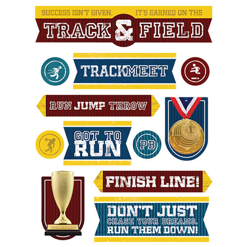 Paper House Productions - 3 Dimensional Stickers- Track and Field