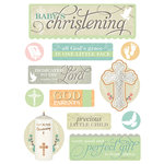 Paper House Productions - 3 Dimensional Stickers- Baby Christening